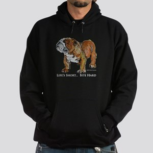 Bulldogs Life Motto Hoodie (dark)