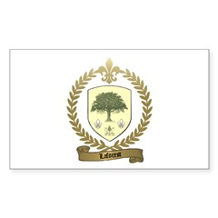 LAFOREST Family Crest Rectangle Decal