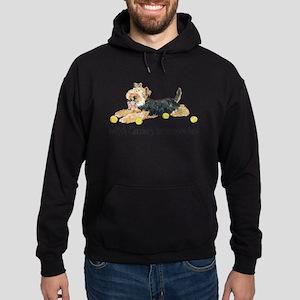 Welsh Terriers Fun Dogs Hoodie (dark)