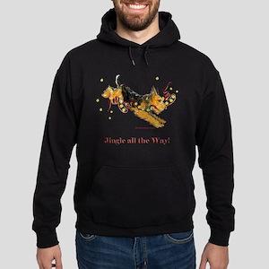 Welsh Terrier Holiday Dog! Hoodie (dark)