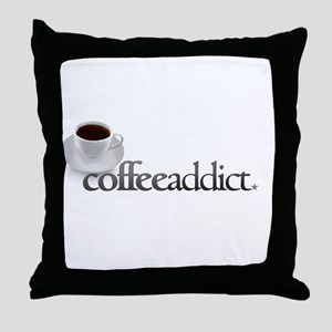Coffee Addict Throw Pillow