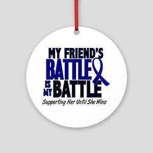 My Battle Too 1 BLUE (Female Friend) Ornament (Rou