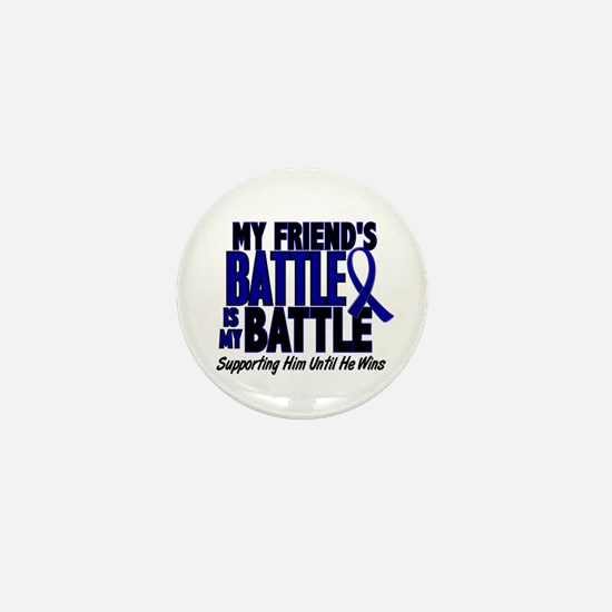 My Battle Too 1 BLUE (Male Friend) Mini Button