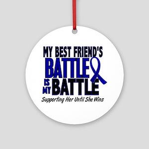 My Battle Too 1 BLUE (Female Best Friend) Ornament