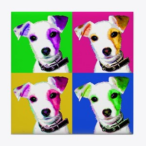 Jack Russell Pup Tile Coaster