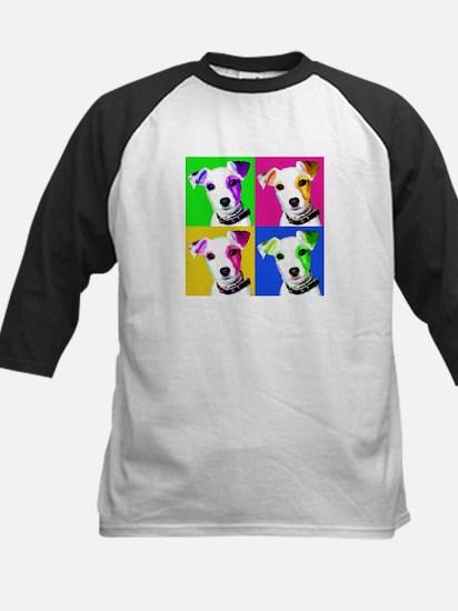 Jack Russell Pup Kids Baseball Jersey