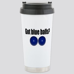 Blue Balls Stainless Steel Travel Mug