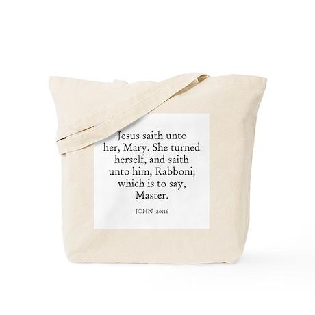 JOHN 20:16 Tote Bag