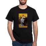 Lady in Blue Dark T-Shirt
