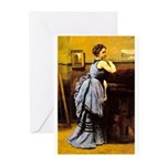 Lady in Blue Greeting Cards (Pk of 10)