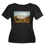 Genoa Women's Plus Size Scoop Neck Dark T-Shirt
