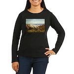 Genoa Women's Long Sleeve Dark T-Shirt