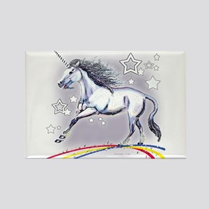 Unicorn and Stars Rectangle Magnet