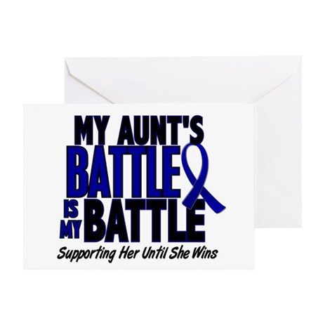 My Battle Too 1 BLUE (Aunt) Greeting Card
