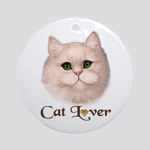 Cat Lover - Persian Ornament (Round)