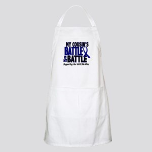 My Battle Too 1 BLUE (Female Cousin) BBQ Apron