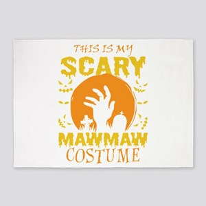 This Is My Scary Mawmaw Costume Hal 5'x7'Area Rug