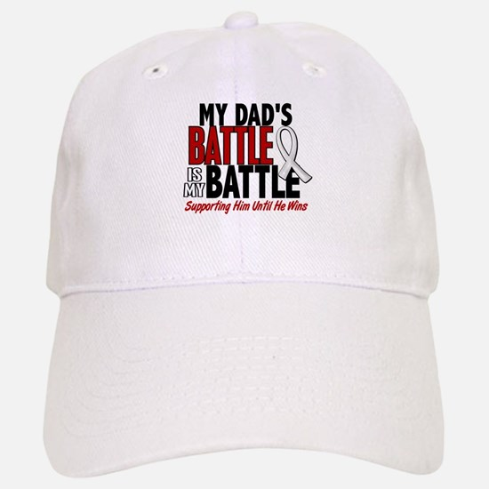 My Battle Too 1 PEARL WHITE (Dad) Baseball Baseball Cap
