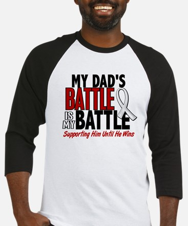 My Battle Too 1 PEARL WHITE (Dad) Baseball Jersey
