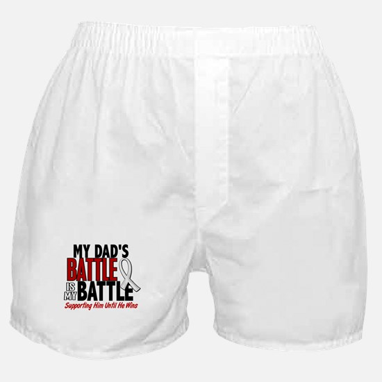 My Battle Too 1 PEARL WHITE (Dad) Boxer Shorts