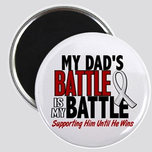 My Battle Too 1 PEARL WHITE (Dad) Magnet
