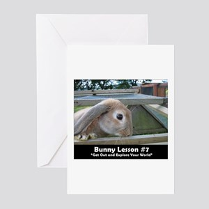 Bunny Lesson #7 Greeting Cards (Pk of 10)