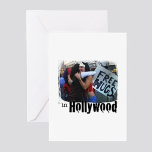 Free Hugs in Hollywood Greeting Cards (Pk of 10)