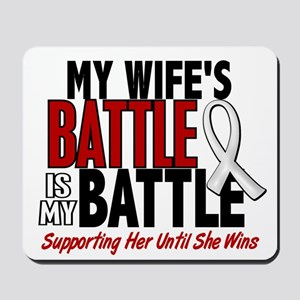 My Battle Too 1 PEARL WHITE (Wife) Mousepad