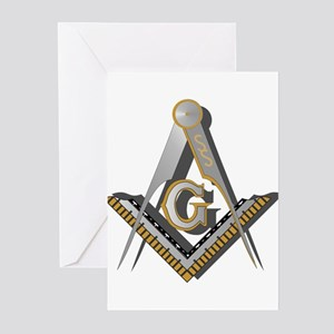 Masonic Square and Compass Greeting Cards