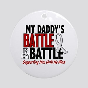 My Battle Too 1 PEARL WHITE (Daddy) Ornament (Roun