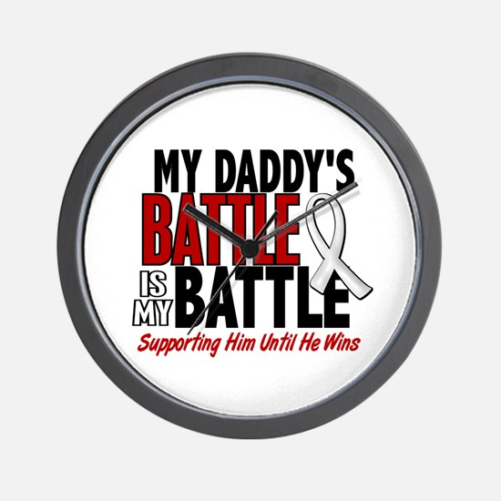My Battle Too 1 PEARL WHITE (Daddy) Wall Clock