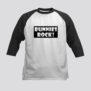 Bunnies Rock! Kids Baseball Jersey
