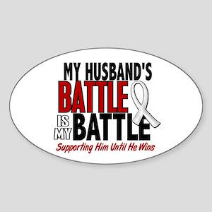 My Battle Too 1 PEARL WHITE (Husband) Sticker (Ova