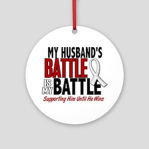 My Battle Too 1 PEARL WHITE (Husband) Ornament (Ro