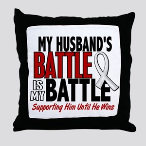 My Battle Too 1 PEARL WHITE (Husband) Throw Pillow