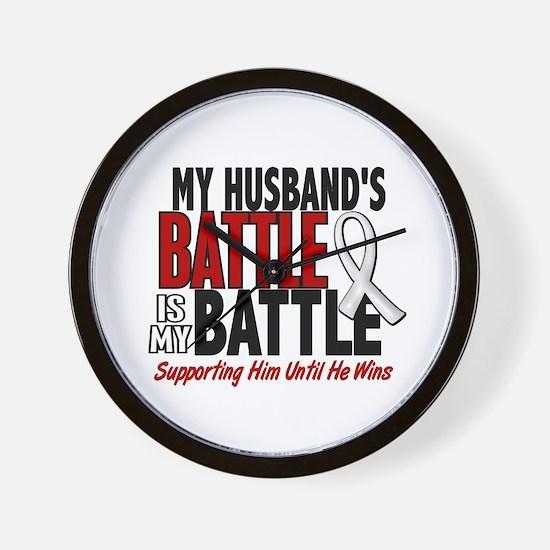 My Battle Too 1 PEARL WHITE (Husband) Wall Clock