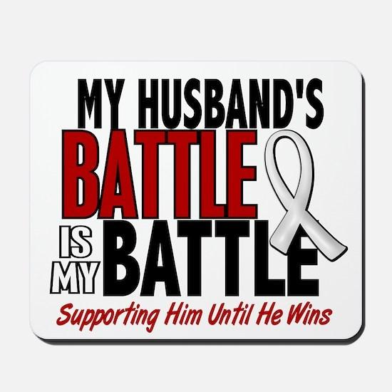 My Battle Too 1 PEARL WHITE (Husband) Mousepad