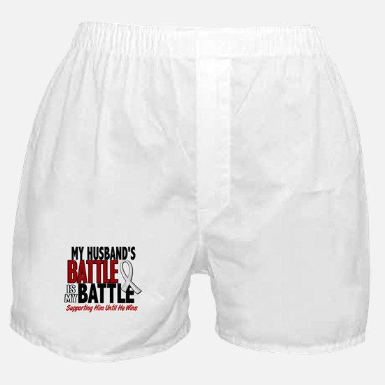 My Battle Too 1 PEARL WHITE (Husband) Boxer Shorts