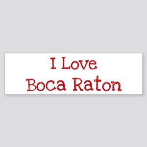 I love Boca Raton Bumper Sticker