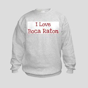I love Boca Raton Kids Sweatshirt