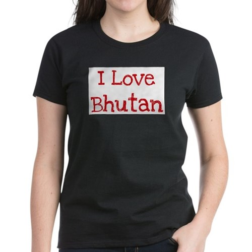 I love Bhutan Women's Dark T-Shirt
