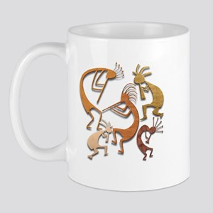 Five Wood Kokopelli Mug