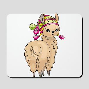 Cute Peruvian Llama Mousepad