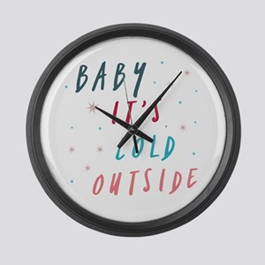 Baby It's Cold Outside Large Wall Clock