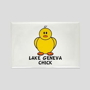 Lake Geneva Chick Rectangle Magnet