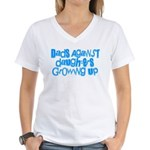 Dads Against Daughters Growing Up Women's V-Neck T