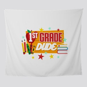 """First Grade Back To School """"1st Wall Tapestry"""