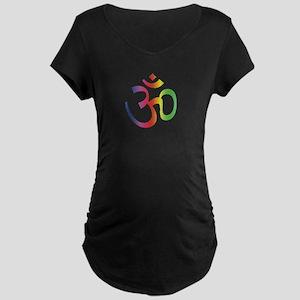 Chakra Aum Maternity Dark T-Shirt
