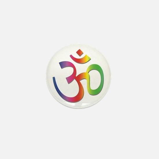 Chakra Aum Mini Button