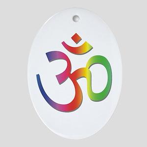 Chakra Aum Oval Ornament